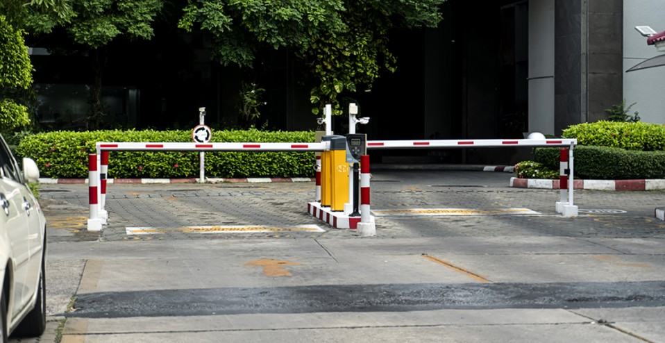 automated rising barriers using ANPR number plate recognition