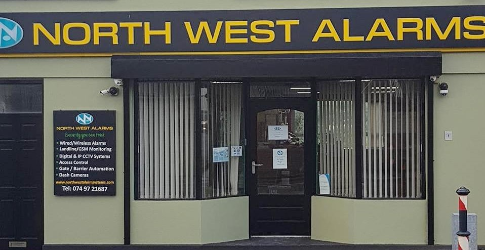 north wesy alarm systems Donegal office front